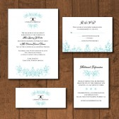 Floral Monogram Invitation Suite