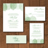 Palm Leaves Invitation Suite