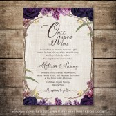 PRINTABLE Purple Wedding Invitation, Enchanted Forest Invitation, Fairy tale Woodland Wedding Invitation, Summer Dream Wedding Invitation by Soumyas Invitations