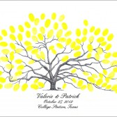 Century Oak Thumbprint Tree Guestbook