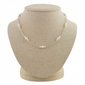 'Evelyn' Pearl Station Necklace