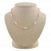 """""""Evelyn Pearl Station Necklace"""""""