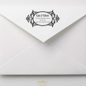 Flourish Frame Wedding Address Stamp – FL002