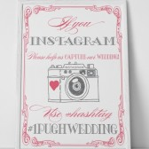 Vintage Instagram Camera Hashtag Sign
