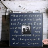 20 x 20 Picture Frame, Bergman Quote