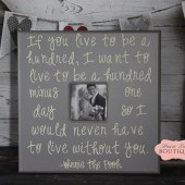 20x20 Picture Frame, Winnie The Pooh, Live to be one hundred