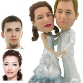 Personalied Cake Topper -  Pearly Couple