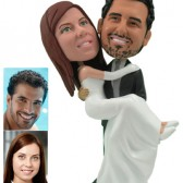 Personalized Cake Topper - Groom Carrying Bride