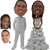 Personalized Cake Topper - White Fashion
