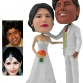 Personalized Cake Topper - White Wedding