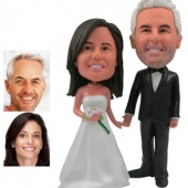 Personalized Cake Topper -  Wedding Couple