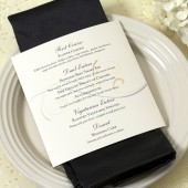 Scroll Dinner Wedding Menu