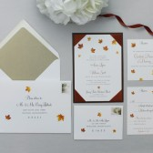 Falling Leaves Wedding Invitation