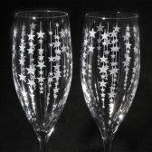 Falling Stars Champagne Flutes
