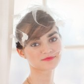 Wedding Veil with Flowers and pearls