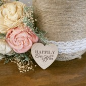 Happily Ever After Heart Favor Magnet