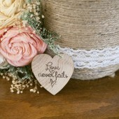 Love Never Fails Heart Magnet