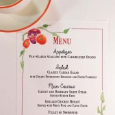 Custom Watercolor Wedding Menu