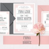 Vintage ornate wedding invitation – Fiona