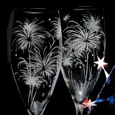 Fireworks champagne flutes, firework themed wedding