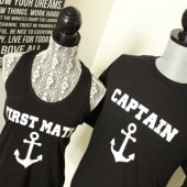 Captain and First Mate Groom and Bride shirts