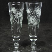 Fireworks 4th of July Wedding Toasting Flutes