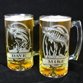 Personalized Fish Beer steins, Groomsmen Gifts