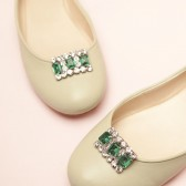 Emerald Shoe Clips