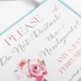 Newlywed Hotel Suite Door Hanger Sign