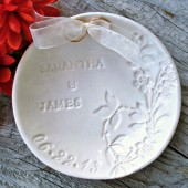 Floral Ring Bearer Bowl - Creamy Natural White