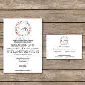 Rustic Floral Invitation Suite