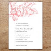 Floral Printable Wedding Invitation