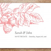 Floral Printable Save The Date