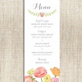 Floral Whimsy Menu Card