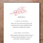 Floral Printable Wedding Menu