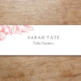 Floral Printable Place Card