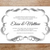 Flourish Printable Wedding Invitation