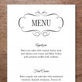 Flourish Printable Wedding Menu
