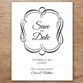 Flourish Printable Save The Date