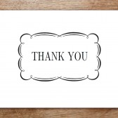 Flourish Printable Thank You Card