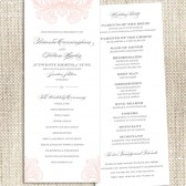 Romantic Flourishes / Printed Program Card