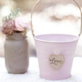 Large  Shabby Love Pail