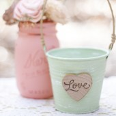 Small Shabby Love Pail
