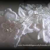 Flowers & Rhinestones Bridal Headband