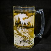 Fly fisherman beer stein, groomsman gift