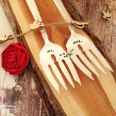 Mr. & Mrs. Love Birds Cake Forks