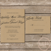 Formal Rustic Kraft Wedding Invitation