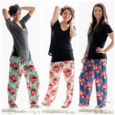 Floral Cotton Pajama Pants