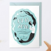 Mermaid and Fish Save The Date