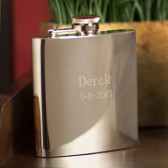 Stainless Steel 7oz Personalized Flask